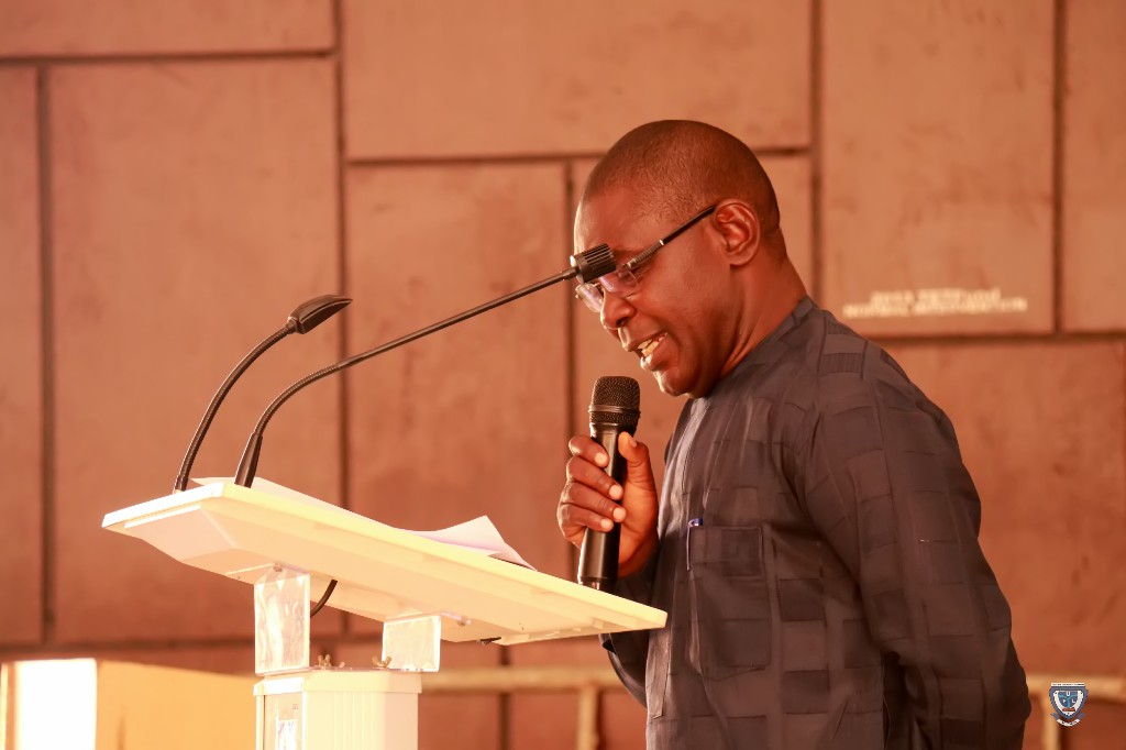 Book Reviewer, Prof. M. S. Audu during the Book Presentation