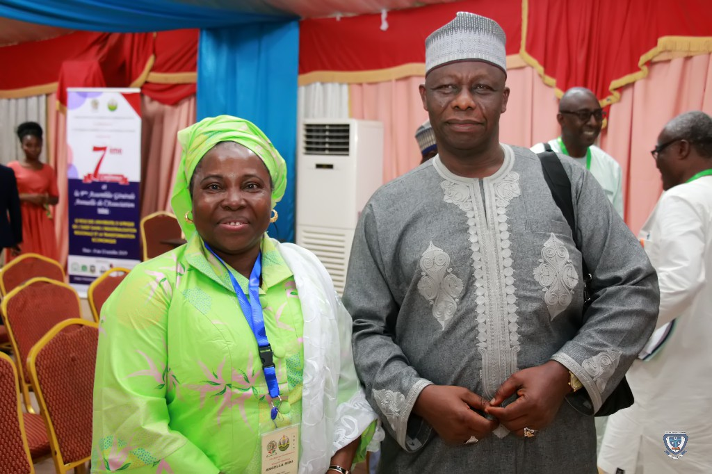 The Vice-Chancellor of Federal University Lokoja, Prof. Angela F. Miri and the Vice-Chancellor of Kogi State University, Anyigba, Prof. Mohammed Sani Abdulkadir at the 7th Conference and 9th AGM of the Association of West Africa Universities held in Benin Republic