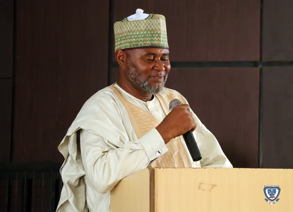 Imam Khalid Danjuma, Chief Imam of the University Central Mosque speaking at the orientation programme
