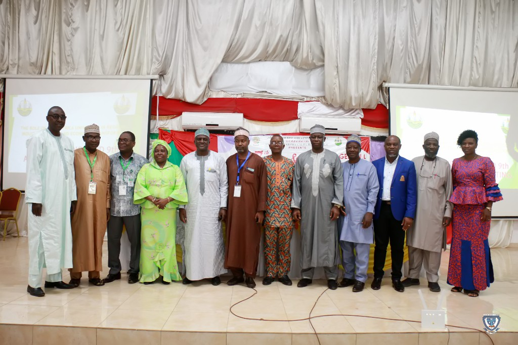 The old and new Executives of AWAU in a group photograph at the 7th Conference and 9th AGM of the Association of West Africa Universities held in Benin Republic
