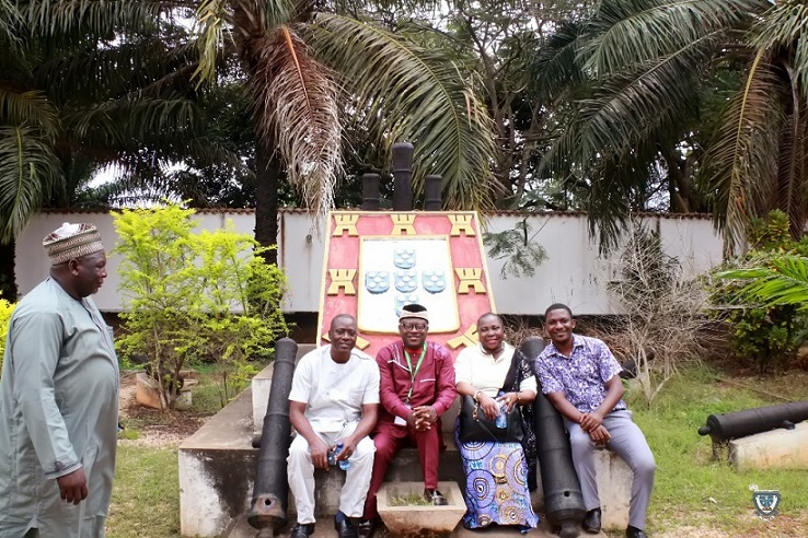 Sightseeing: The Vice-Chancellor, Prof. Angela F. Miri with some participants in one of the tourist sites visited during the 7th Conference and 9th AGM of the Association of West Africa Universities held in Benin Republic