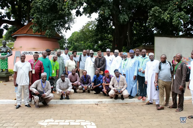 Sightseeing: The Vice-Chancellor, Prof. Angela F. Miri in a group photograph with some participants in one of the tourist sites visited during the 7th Conference and 9th AGM of the Association of West Africa Universities held in Benin Republic
