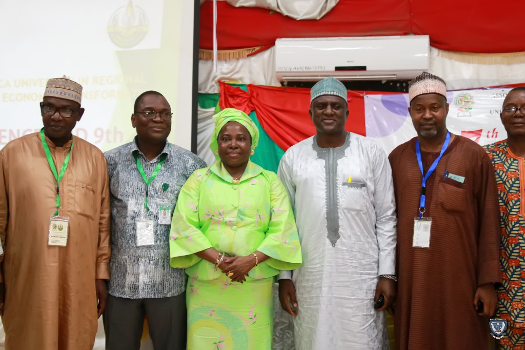 The Vice-Chancellor, Prof. Angela F. Miri in a group photograph at the 7th Conference and 9th AGM of the Association of West Africa Universities held in Benin Republic
