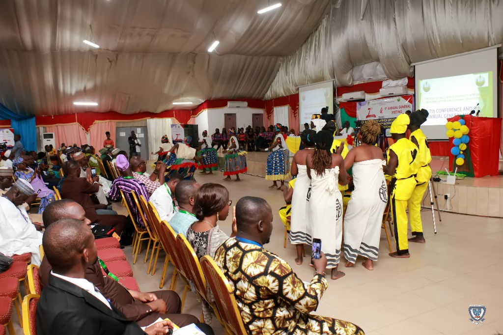 Cultural Troupe at the Opening Ceremony of the 7th Conference and 9th AGM of the Association of West Africa Universities held in Benin Republic