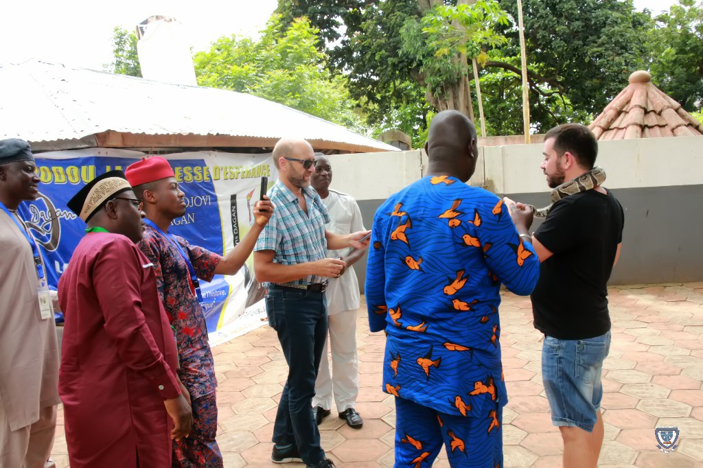 Sightseeing: Some participants in one of the tourist sites visited during the 7th Conference and 9th AGM of the Association of West Africa Universities held in Benin Republic