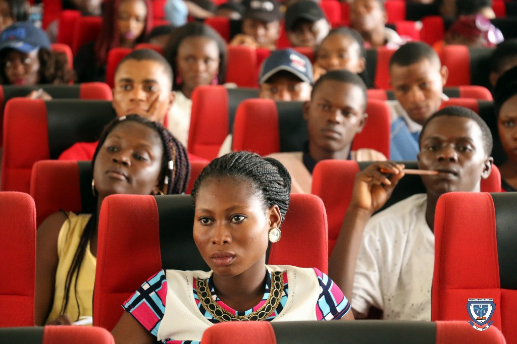Cross section of fresh students at the orientation programme