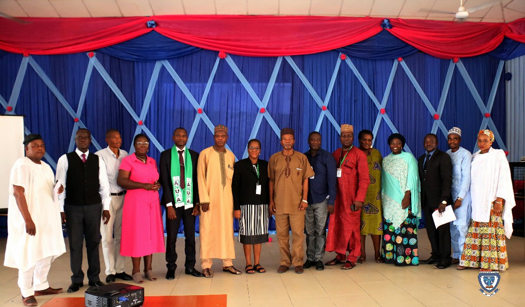 The Resource Person (Mrs. Omoayena Duro-Bello) in a group photograph with ANUPA-FUL Branch Excos and others.