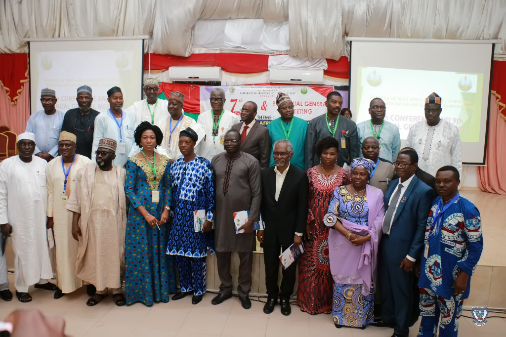 Some dignitaries in a group photograph at the Opening Ceremony of the 7th Conference and 9th AGM of the Association of West Africa Universities held in Benin Republic