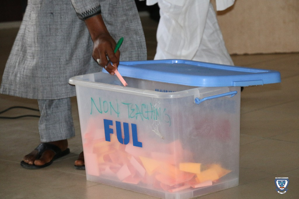 One of the ballot boxes
