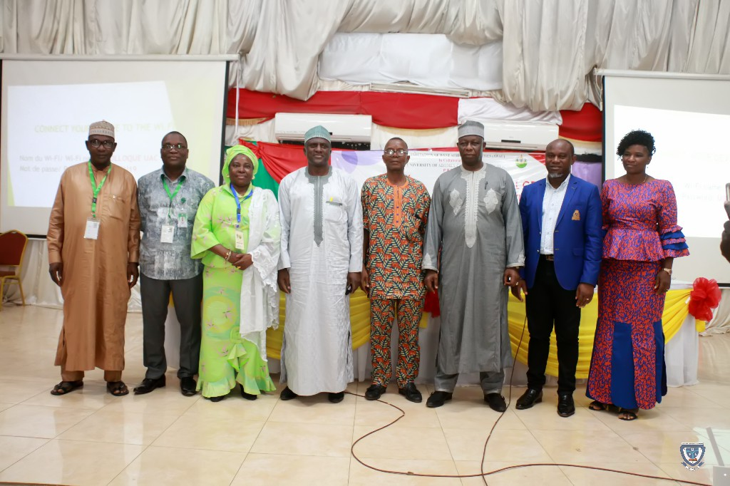 Some of the new Executive of AWAU in a group photograph at the 7th Conference and 9th AGM of the Association of West Africa Universities held in Benin Republic