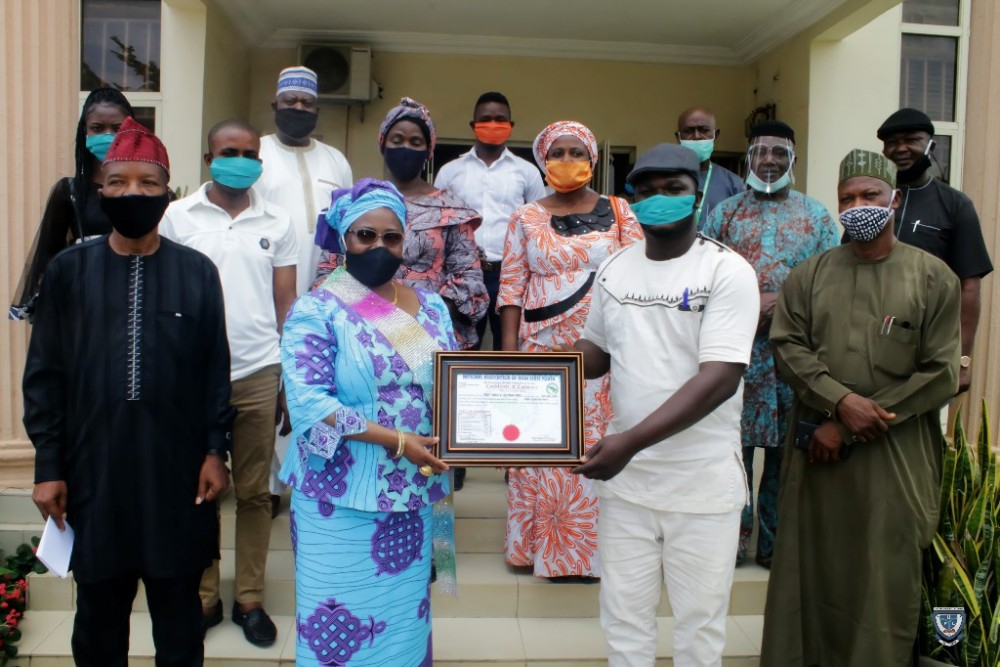"prof-angela-f-miri-receives-""certificate-of-credence""-as-best-performing-head-of-higher-institution-in-kogi-state"